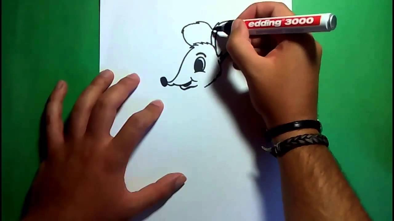 Como dibujar un raton paso a paso 7  How to draw a mouse 7  YouTube
