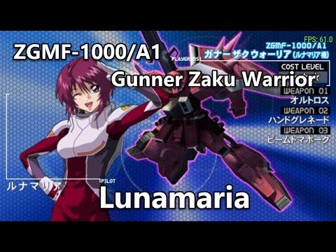 Gundam Seed: Rengou vs ZAFT - ZGMF-1000/A1 Gunner Zaku Warrior - Arcade Mode
