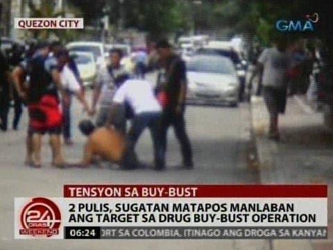 24 Oras: 2 pulis, sugatan matapos manlaban ang target sa drug buy-bust operation