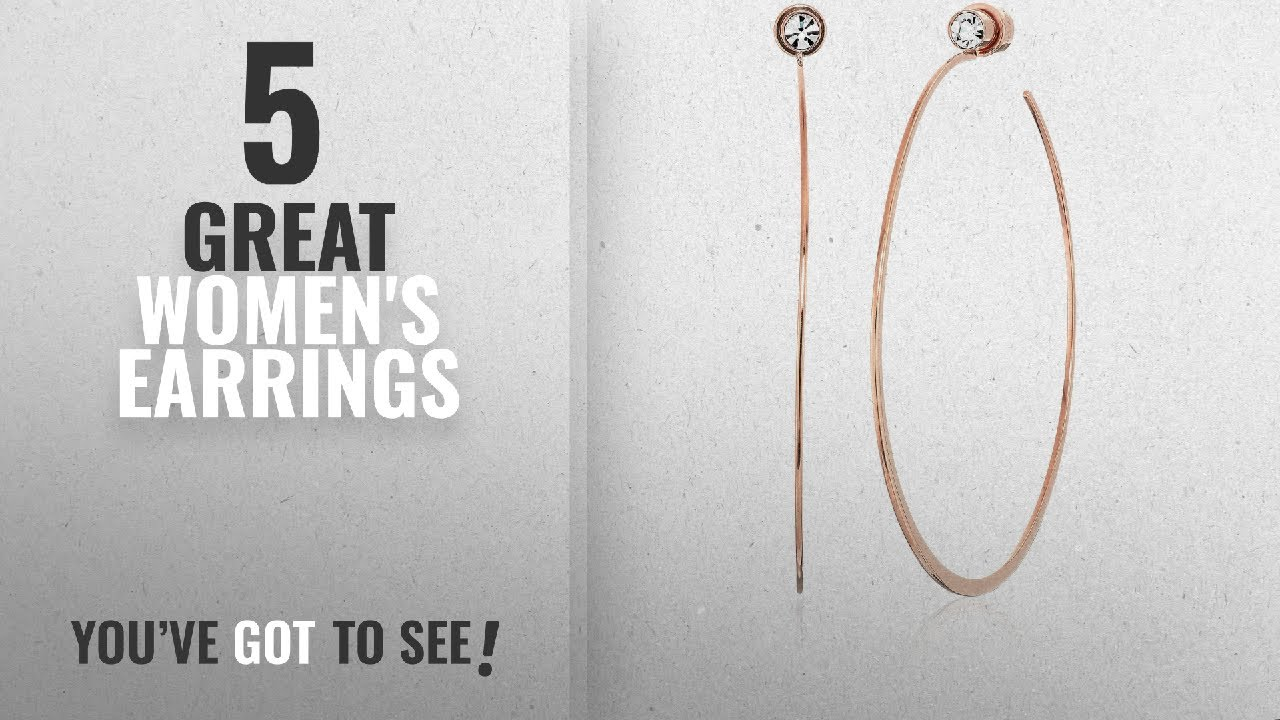 0b1a10c46 10 Best Michael Kors Earrings [2018]: Michael Kors Rose Gold Tone Modern  Brilliance Hoop Earrings