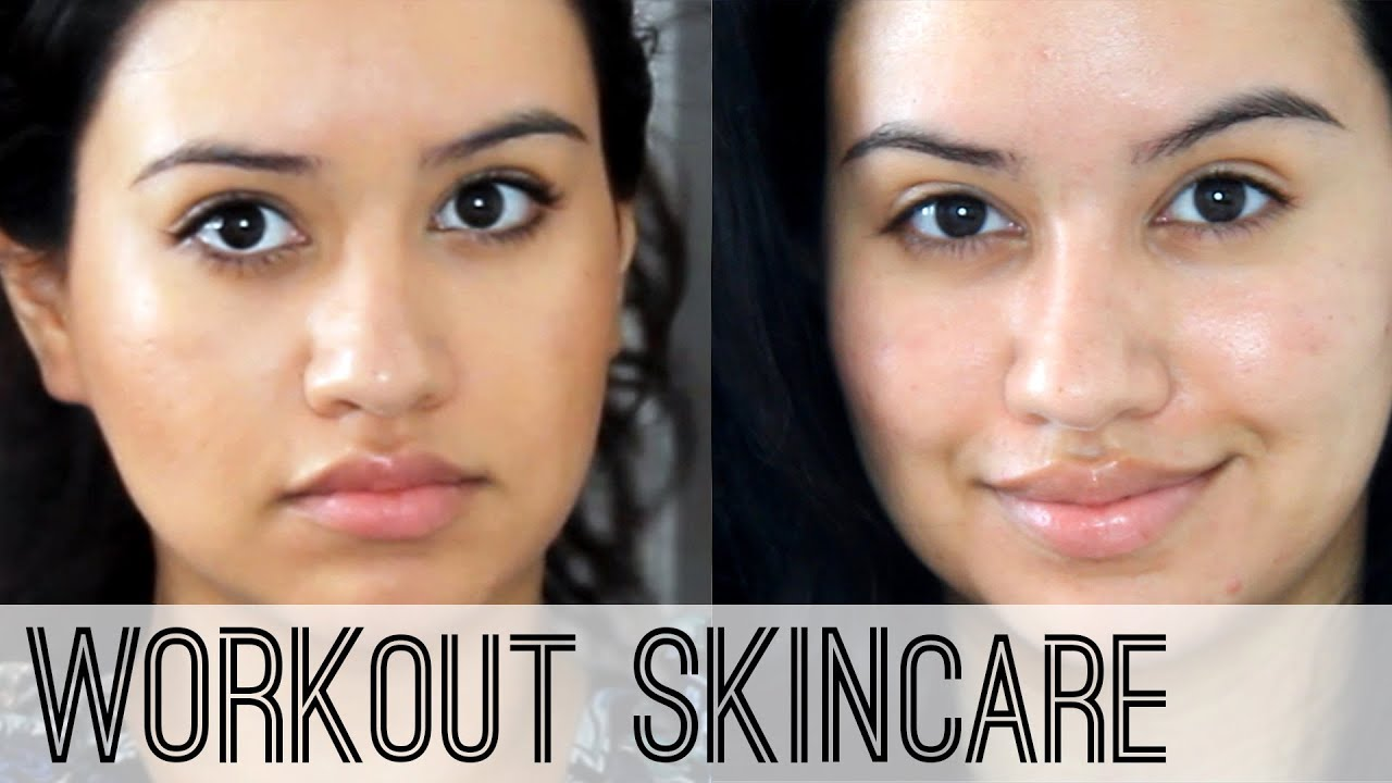 skin care routine | pre & post workout - youtube