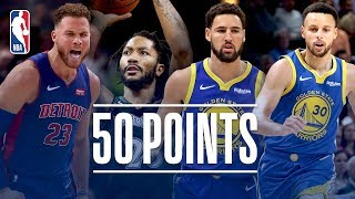 Best Of The 50+ Point Games This Season (Klay, Steph, Rose, Blake)