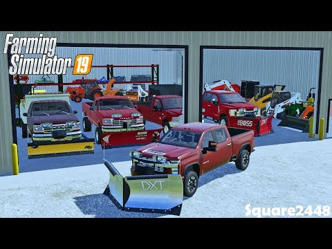 Snows Coming! | Putting Plows On Trucks | Salt Spreaders | Landscaping Series | Farming Simulator 19