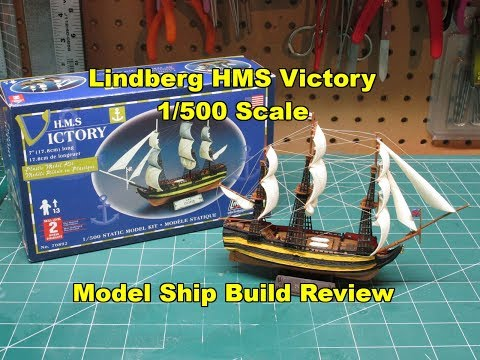 Lindberg HMS Victory 1/500 Model Ship Kit Build Review LND70892