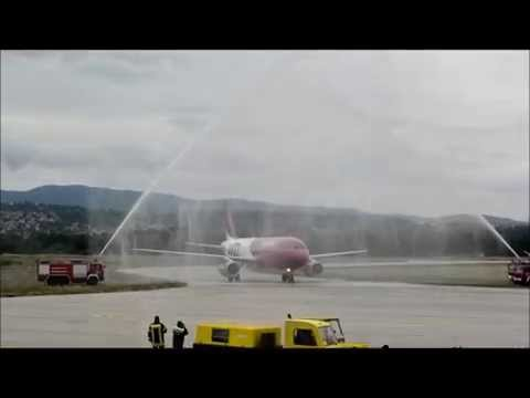 First Wizz Air flight from Malmo to Niš (HD)