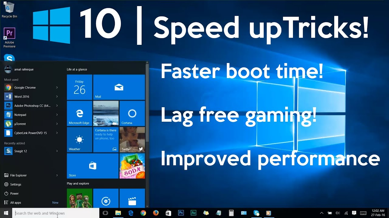 How to speed up Windows 7 by configuring