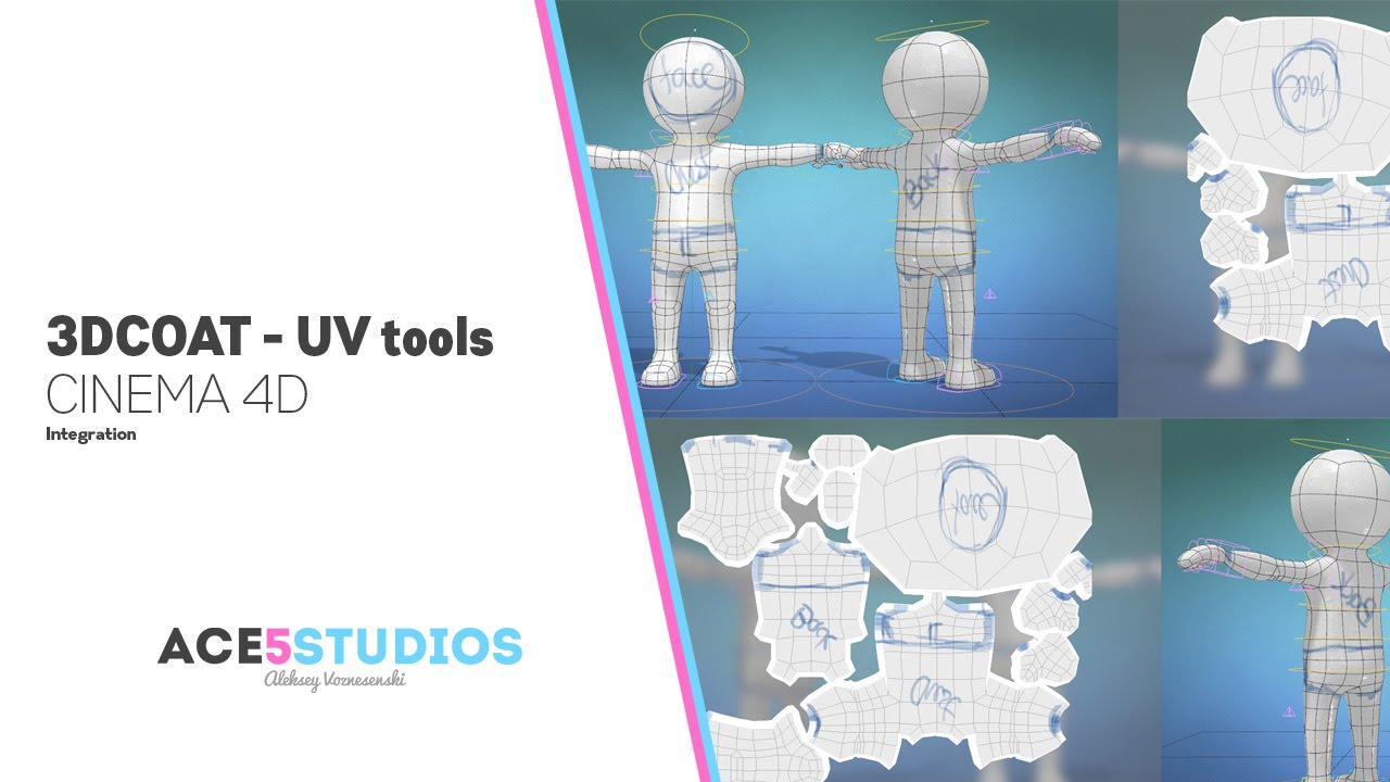 UV unwrapping in 3D coat and cinema4D » Ace5studios