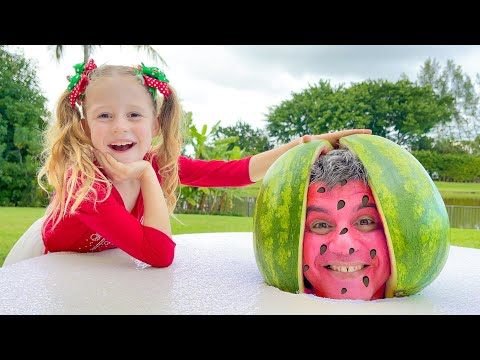 Nastya and Watermelon with a fictional story for kids