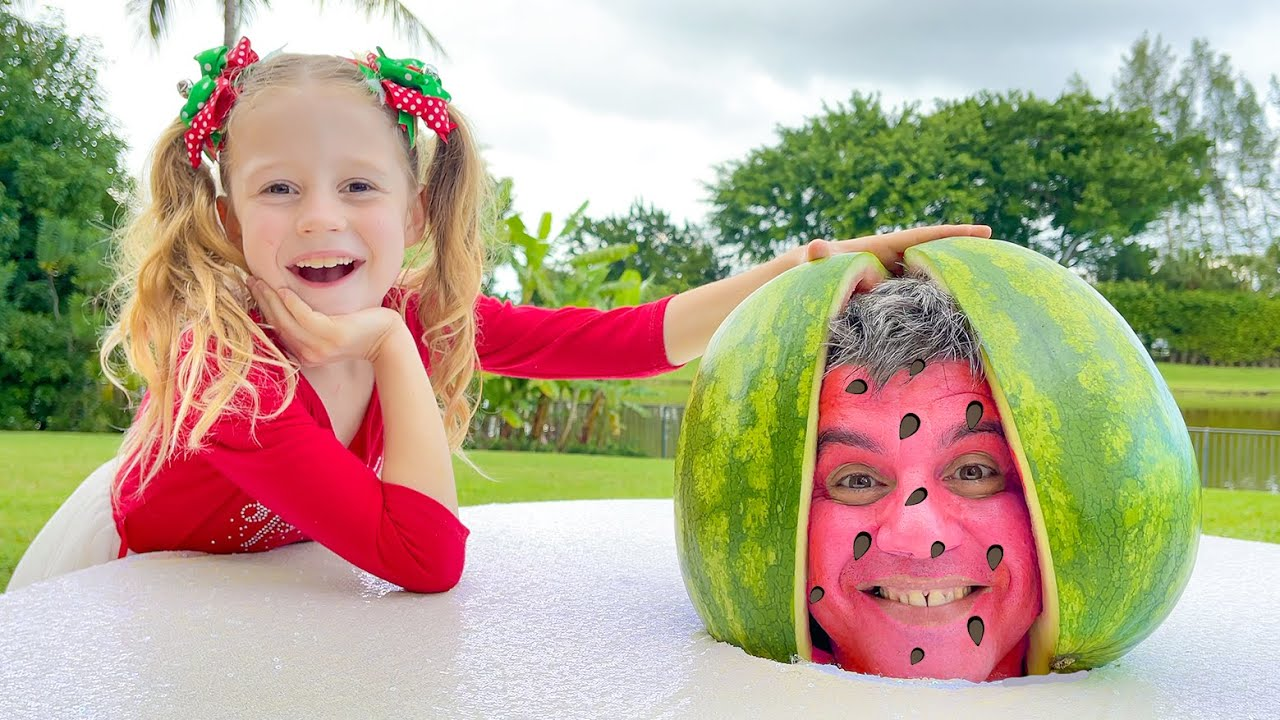 Download Nastya and Watermelon with a fictional story for kids