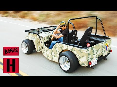 Larry Rips 1946 Turbo SR20 Powered Jeep Willys On Canyon Run!