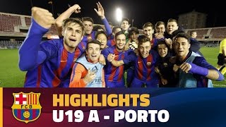 [HIGHLIGHTS] YOUTH LEAGUE: FC Barcelona – Porto (2-1)