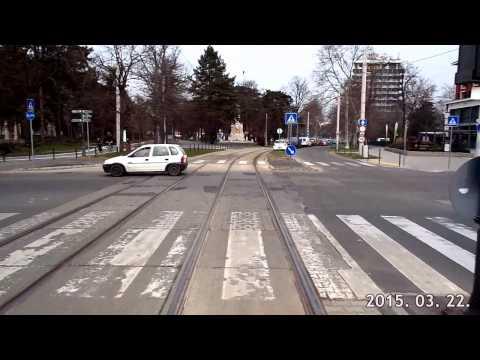 (Teljes) 1-es villamos vonal Debrecen KCSV 6-1S