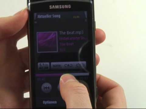 Samsung i8910 HD Test Musikplayer