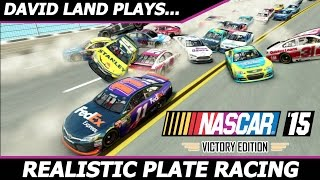 REALISTIC PLATE RACING (David Land RETURNS to NASCAR 15 Victory Edition!) #1 Talladega