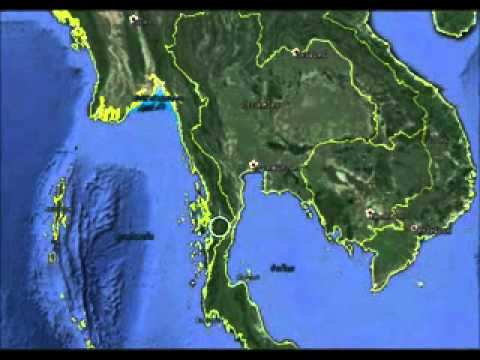 Thailand on the world map - YouTube
