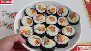 LÀM SUSHI VỚI PHƯƠNG PHÁP ĐƠN GIẢN BẮNG DỤNG CỤ MỚI MUA/Making sushi with simple methods with newly