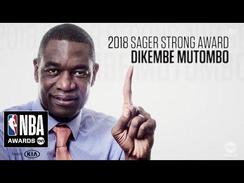 Dikembe Mutombo | Sager Strong Award | 2018 NBA Awards