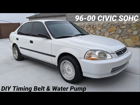 How To Replace Timing Belt & Water Pump on Honda Civic Sohc 96-00