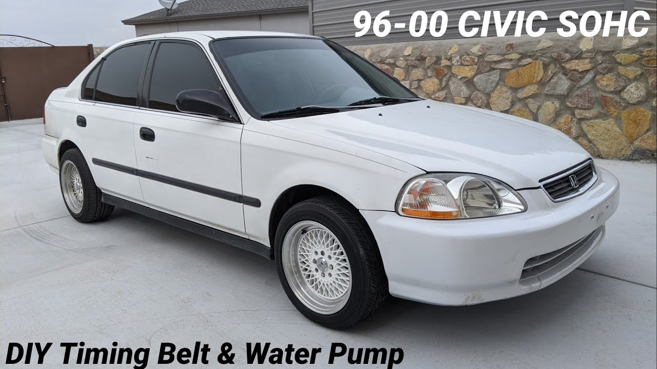 How To Replace Timing Belt & Water Pump on 96-00 Honda Civic Sohc D16
