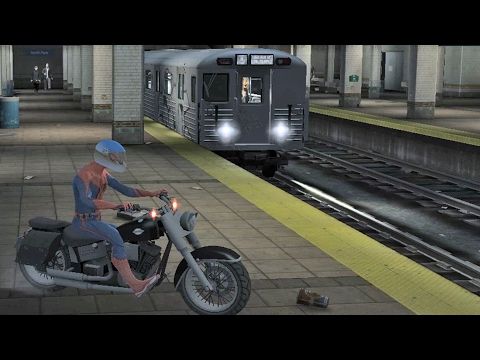 The Amazing Spiderman in the subway