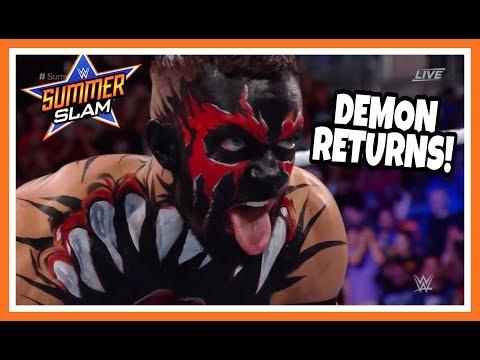 DEMON KING FINN BALOR RETURNS reaction | WWE Summerslam 2018