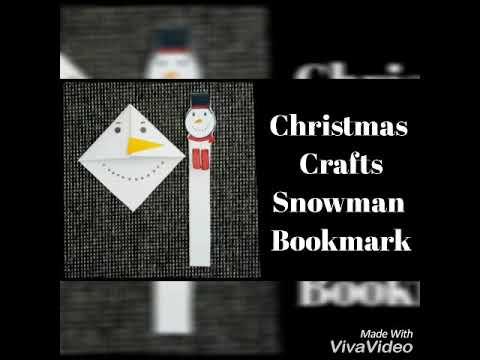 Snowman Bookmark/Christmas Crafts/Kids/DIY