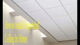 How to Install Suspended Ceiling