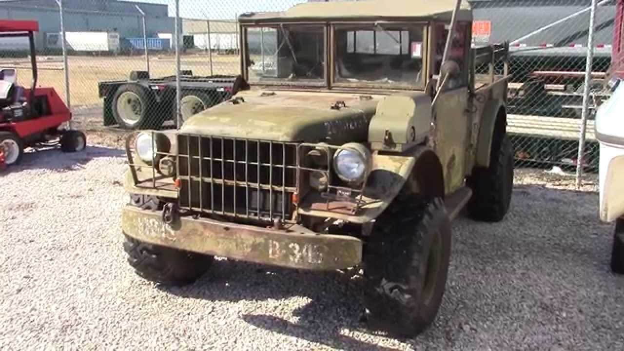 1953 Dodge M37 Army Truck | Short Tour - YouTube