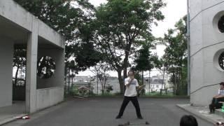 2年生によるフラワースティックの演技です。 湘南高校アルコーブにて。