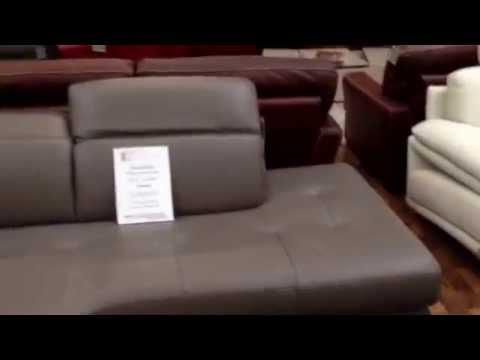 natuzzi-editions-corner-group-mushroom/grey-italian-quality-genuine-leather-sofa