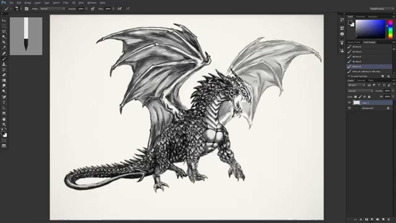 Drawing Fantasy Creatures Digitally: Introduction - YouTube - photo#30