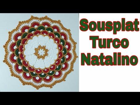 Sousplat de crochê Natalino luxo | Modelo turco | Passo a passo