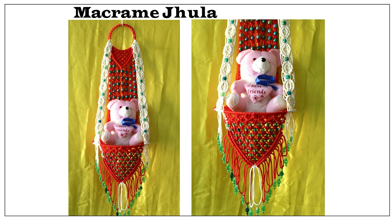 Full Making Of Macrame Jhula Red Amp White New Design 2