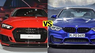 2018 audi rs5 vs 2018 bmw m4 cs test driver autocar show