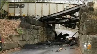 Bridge Collapse And Train Derailment Leads To Closures, Chaos In Indiana Co.