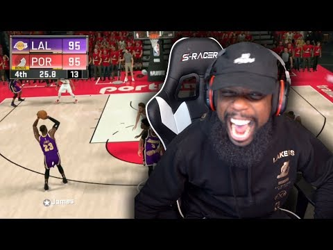 Tied Game Lebron James Buzzer Beater Miss or Make?! Lakers vs Blazers Playoff Game 6