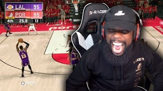 Tied Game Lebron James Buzzer Beater Miss or Make?! Lakers vs Blazers Playoff Game 6! Ep 33