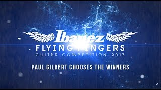 PAUL GILBERT CHOOSES THE WINNERS