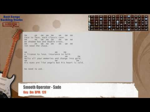 Smooth Operator - Sade Guitar Backing Track with chords and lyrics