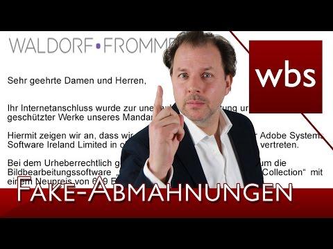 Achtung vor Fake-Abmahnungen von Waldorf Frommer und SKW Schwarz | Rechtsanwalt Christian Solmecke