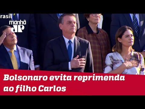 Bolsonaro evita reprimenda ao filho Carlos por ataques contra Mourão