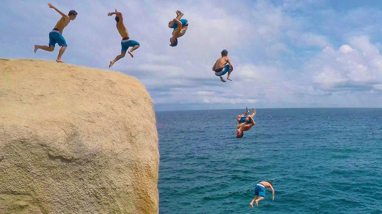 Falling Into Water Wallpaper Thailand Cliff Jumping In The Land Of Smiles Youtube