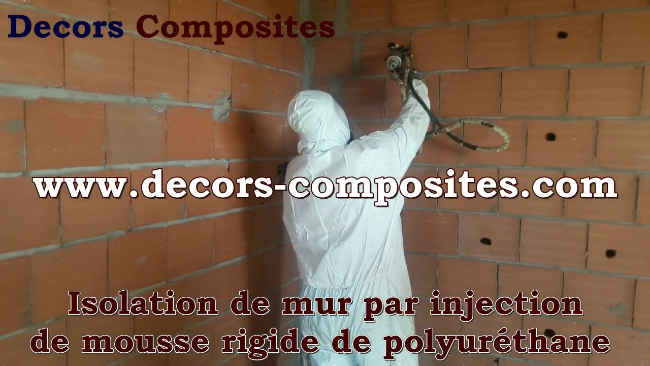 isolation de mur par injection de mousse rigide de polyurethane youtube. Black Bedroom Furniture Sets. Home Design Ideas