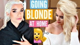 How I Went COMPLETELY BLONDE at Home!! *INSANE RESULTS* thumbnail
