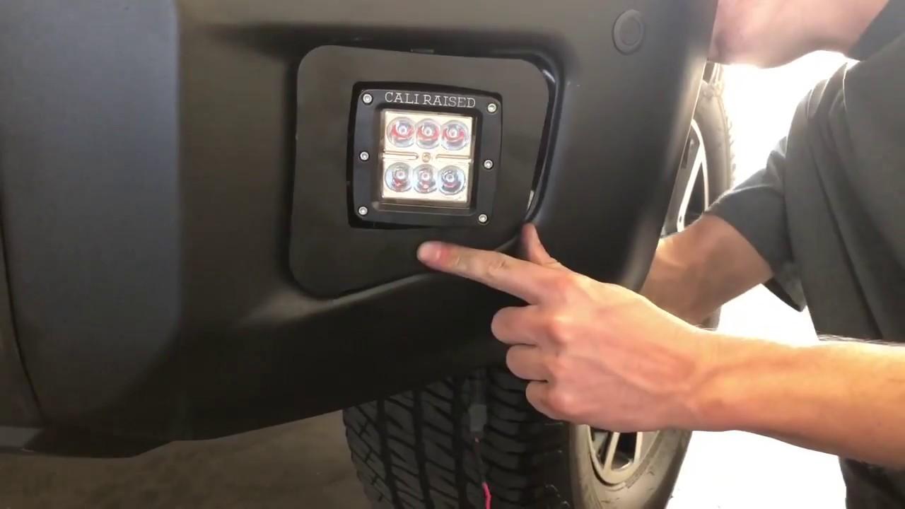 Fog Light Installation >> 2014-2020 Toyota Tundra Fog Light LED Pod Replacement ...