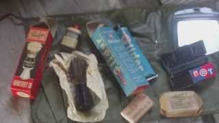 WORLD WAR TWO AMERICAN ARMY PERSONAL HYGENE WASH KIT ROLL AND CONTENTS