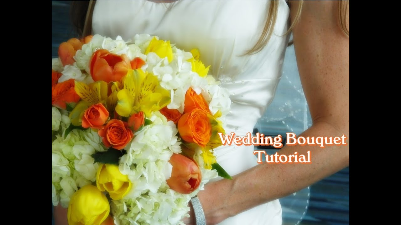 How to make a Wedding Bouquet with Real flowers | D.I.Y Wedding ...