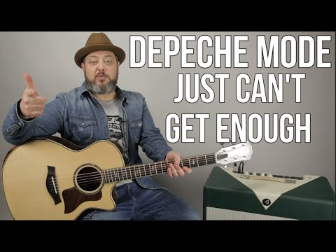 Depeche Mode - Just Can't Get Enough - Guitar Lesson
