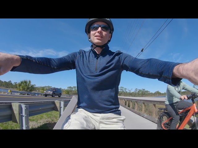 Riding a YOLO electric bike in South Walton, Florida
