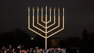 Hanukkah Menorah lit at White House